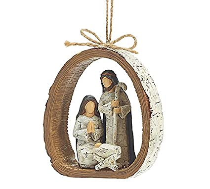Burton And Holy Family Resin Ornament