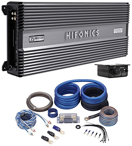 (HIFONICS Colossus 35th Aniv 3400w RMS Competition Mono Car Amplifier + Amp Kit)
