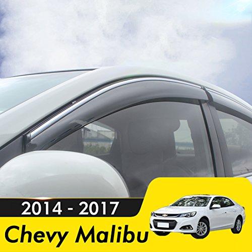 biosp Compatible for 2014-2017 Chevrolet Malibu Chevy Malibu Visor Rain Sun Deflectors Car Window Ventvisor Shade Wind Deflector