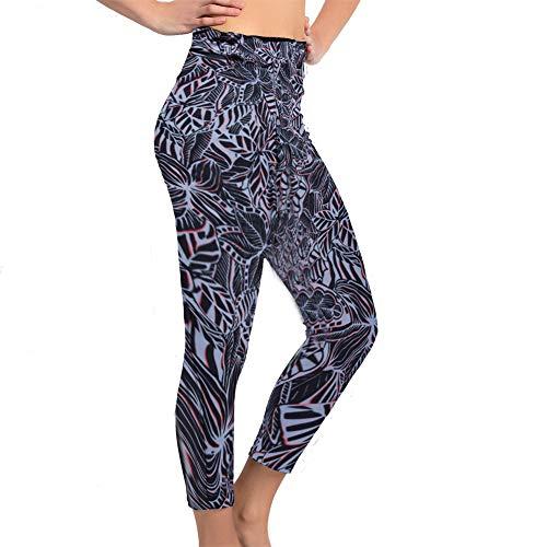 Women's Swim Pants High Waist Tummy Control Long Swimming Tights UPF 50+ Capris Built-in Liner Outdoor Sport Leggings
