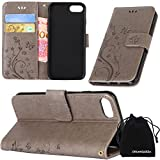 iPhone 8 Case, iPhone 7 Case, DRUnKQUEEn Premium Quality Protective Flip Folio PU Leather Cover Wallet Phone Holder with Foldable Kickstand for Apple iPhone7 iPhone8