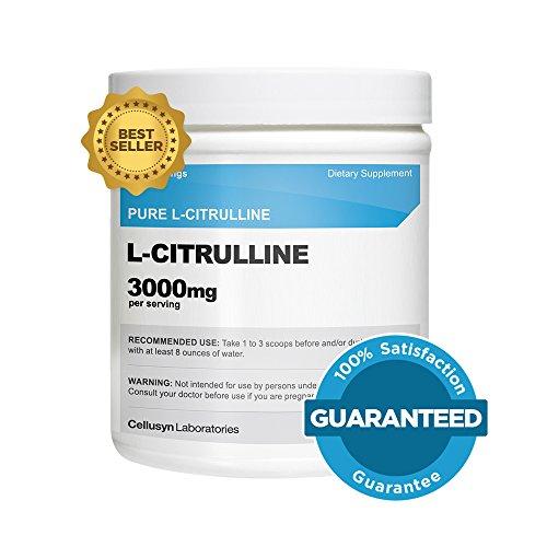 Cellusyn L-Citrulline (300 grammes) - poudre Pure L-Citrulline, 3000mg par portion - L-Citrulline Malate