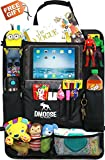 Door Seat Back Organizers Best Deals - Car Backseat Organizer with Tablet Holder for Kids and Toddlers by DMoose 24-Inch-by-19-Inch (Large) - Insulated Thermal Pockets, Strong Buckles, Sturdy Back Support - Bonus Seat Catcher