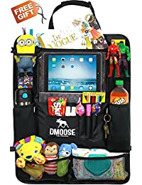 Car Backseat Organizer with Tablet Holder for Kids and Toddlers by DMoose 24-Inch-by-19-Inch (Large) – Insulated Thermal Pockets, Strong Buckles - Use as Seat Back Protector, Kick Mat, Car Organizer BOBEBE Online Baby Store From New York to Miami and Los Angeles