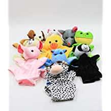 XKX 10Set Cute Animal Hand Puppets Toys for Kids,Lots of fun by XKX