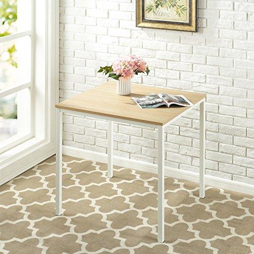 Zinus Umer Modern Studio Collection Soho Square Table, White ()