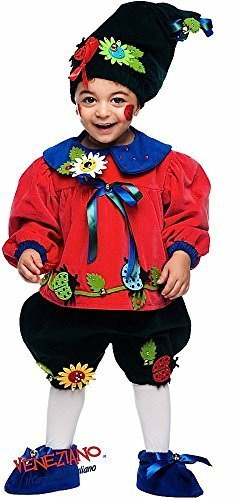 Italian Made Deluxe Baby Boys Girls Deluxe Flowerpot Gnome Carnival Festival Halloween Fancy Dress Costume Outfit Newborn 0-3 Years (1 Year)