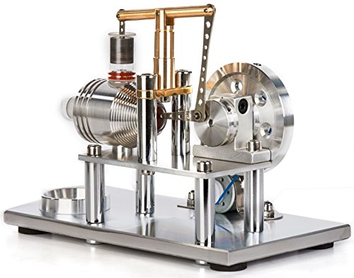 Sunnytech Hot Air Stirling Engine Motor Model Educational Toy Electricity Generator Colorful LED SC (SC02M) by Sunnytech (Image #3)
