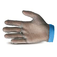 Superior Glove Works GU-500 Stainless-Steel Mesh Universal Five-Finger Chain Mail Glove, Work, Cut-Resistant, Large (Pack of 1)