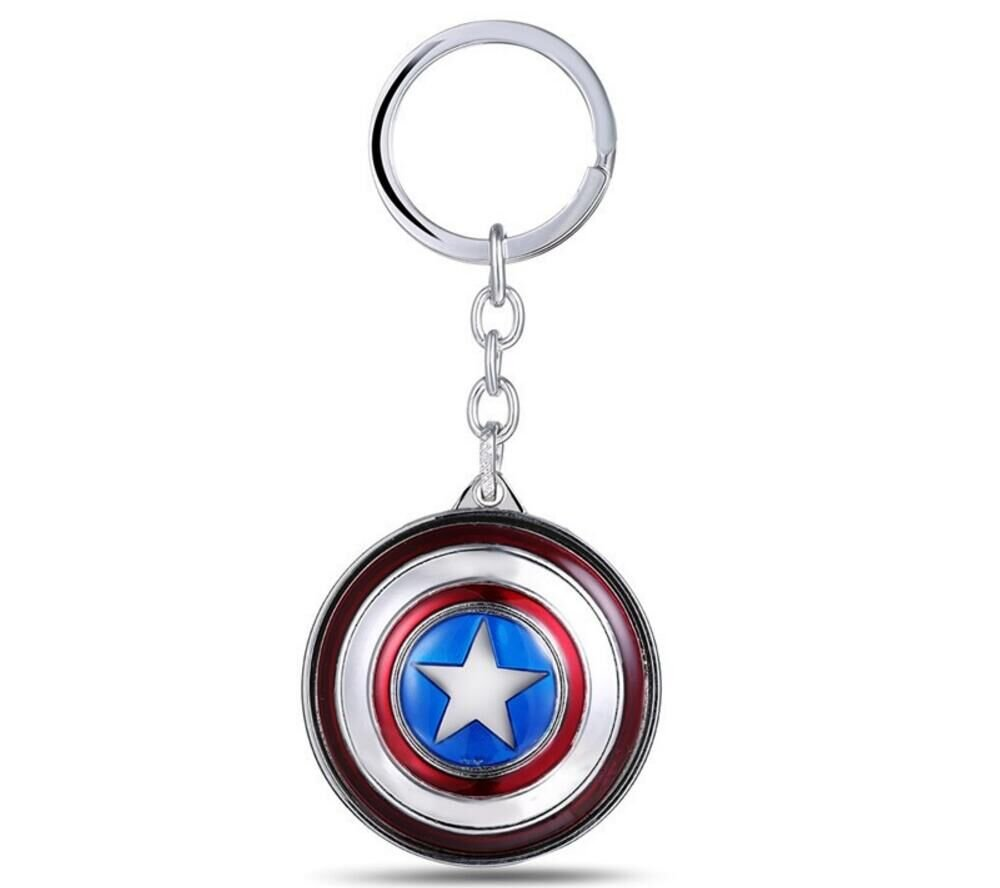 Amazon.com : Rotate Captain America Shield Keyring Keychain ...