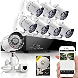 Funlux® 8CH NVR 720P HD Night Vision IP Surveillance Camera Kit CCTV Security Camera System with 500GB HDD & Smartphone Scan QR Code Quick View