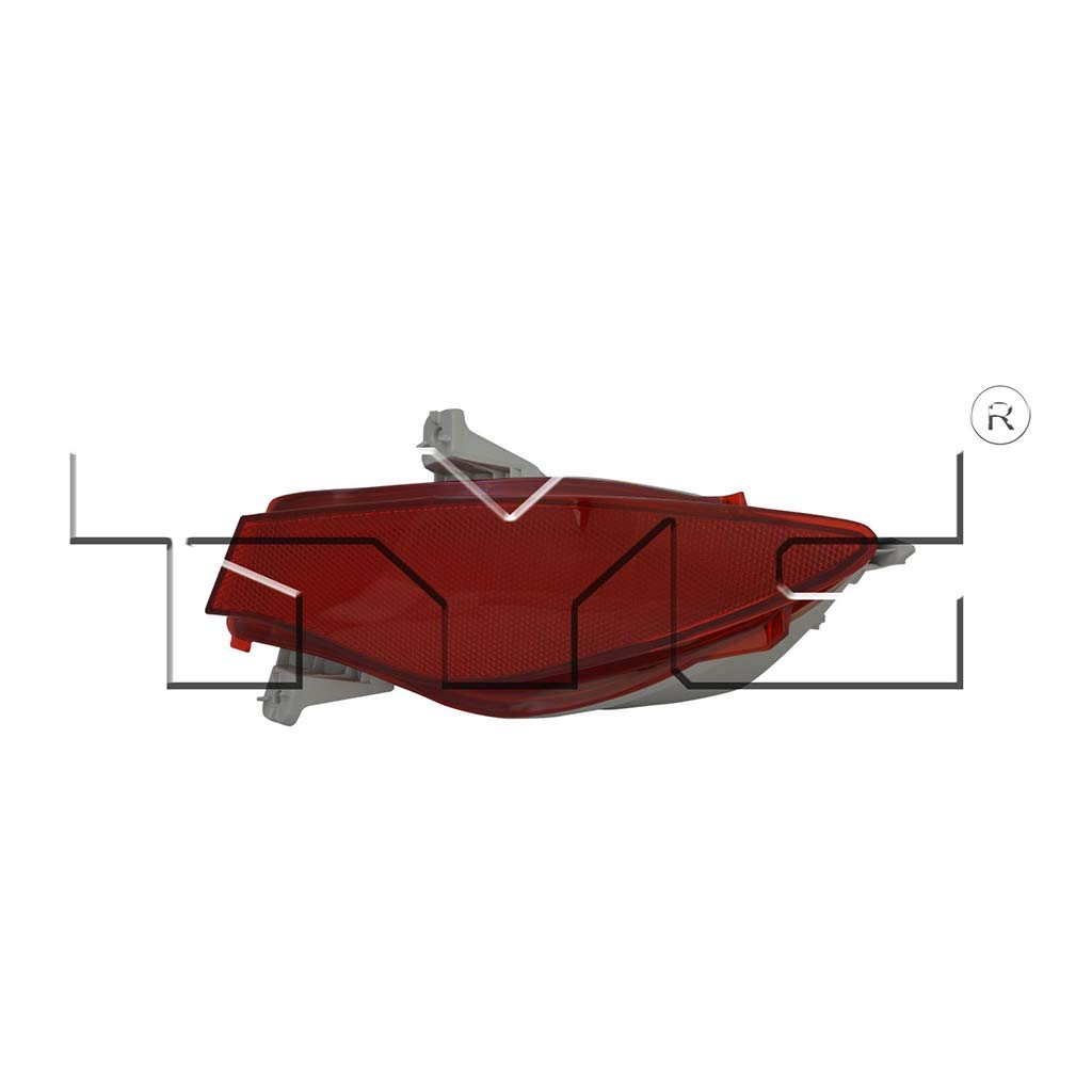 Fits 2010-2012 Mazda CX-7 Passenger Side Rear Reflector NSF Certified With Bulbs Included MA2893100 - Replaces EH44-51-650 ;