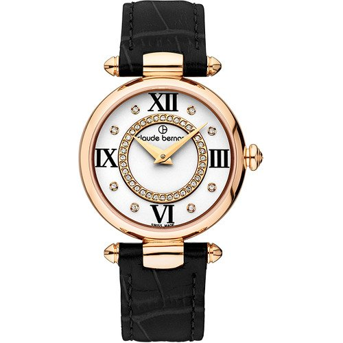 Claude Bernard Women's 20501 37R APR1 Dress Code Analog Display Swiss Quartz Black Watch
