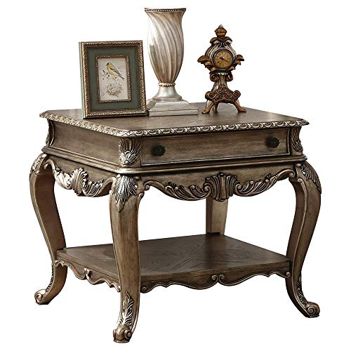 Benjara Benzara Wooden Storage End Table, Brown