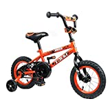 Tauki Kid Bike BMX Bike for Boys and Girls, 12 Inch, Orange, 95% assembled, for 2-5 Years Old, Gift for kids