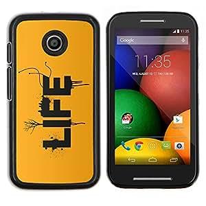 For Motorola Moto E Case , LA VIDA- Diseño Patrón Teléfono Caso Cubierta Case Bumper Duro Protección Case Cover Funda
