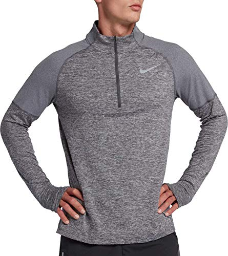 Nike Men's 2.0 Element 1/2 Zip Running Top (Dark Grey/Heather, Medium) by Nike (Image #1)