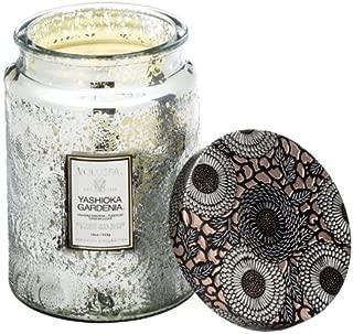 product image for Voluspa Yashioka Gardenia Large Embossed Glass Jar Candle, 16 Ounces