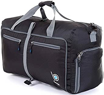 Bago Travel Duffel Bag For Women & Men - Foldable Duffle For Luggage Gym Sports - 23'' (Medium, Black)