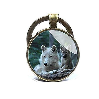 Wolf Llavero Animales Llavero - Brozen Clave Anillo Llavero ...