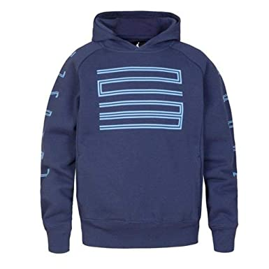 50d62ccaecdf1a Amazon.com  Nike Boys Jordan Retro 11 Hybrid Fleece Pullover Hoodie (Midnight  Navy