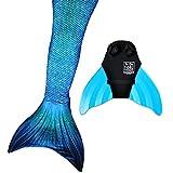 Sun Tail Mermaid Nunui Mermaid Set, Blue Lagoon Tail, Teen/Adult Small (JS) 4-6, Turquoise Monofin