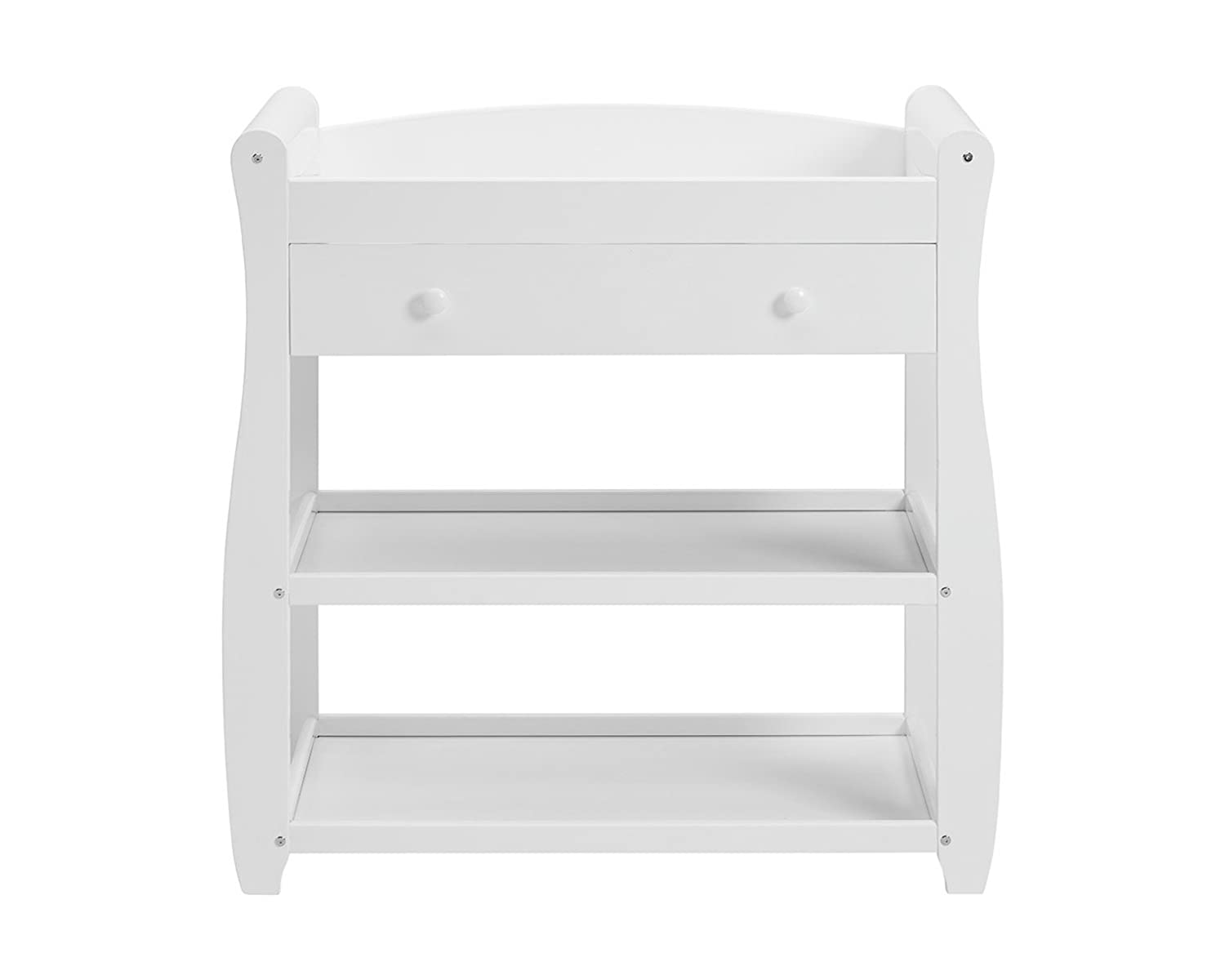 Babymore Sleigh Changer with Drawer (White) 2630102