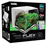 Fluval Flex Curved Glass LED Nano Aquarium Fish Tank 57L - White