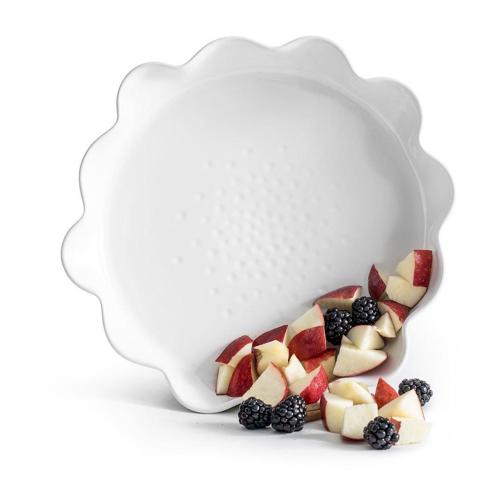 Sagaform 5017726 Piccadilly Pie Dish, White