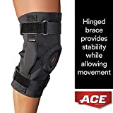 ACE Hinged Knee Brace, one Size Fits Most, Left Or Right Knee, Adjustable, Firm, Stabilizing Compression To Weak, Sore Muscles & Joints