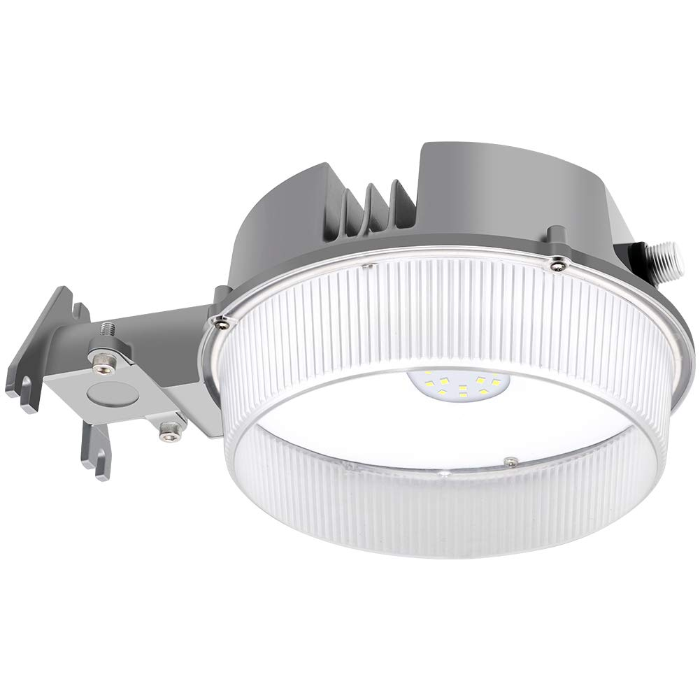 CINOTON LED Barn Light 40W, 5000K Daylight Floodlight, Dusk to Dawn Yard Light with Photocell, 5600lm Outdoor Area Lighting, Replaces up to 175W MH, IP65 Outdoor Security Light Farm/Garage/Sidewalk