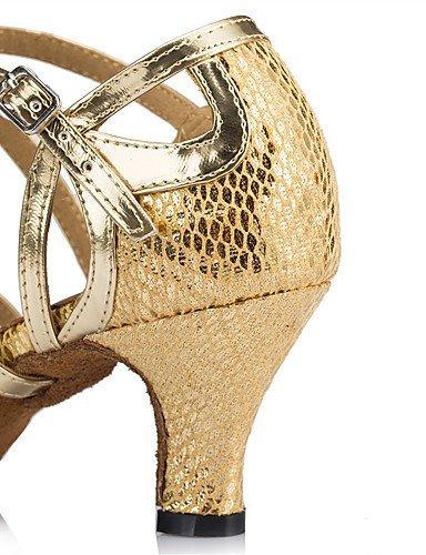 ShangYi Chaussures de danse(Bleu / Rouge / Or / Autre) -Personnalisables-Talon Aiguille-Cuir-Latine / Moderne , navy-us6 / eu36 / uk4 / cn36 , navy-us6 / eu36 / uk4 / cn36