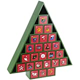 Tree Advent Calendar - wooden 24 pull out drawers - New for 2015