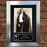 BELA LUGOSI Dracula Signed Autograph Mounted Reproduction Photo A4 Print 311 (Silver frameq)