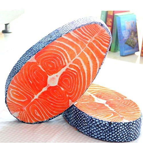 New Arrival Washable Amusing Simulation Tasty Salmon Fish Sushi Pillow Cushion Home Decor