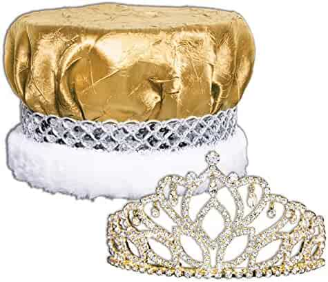 60dc9e95 Royal Grandeur Set, 2 7/8 inch High Mirabella Tiara and Metallic Crown with