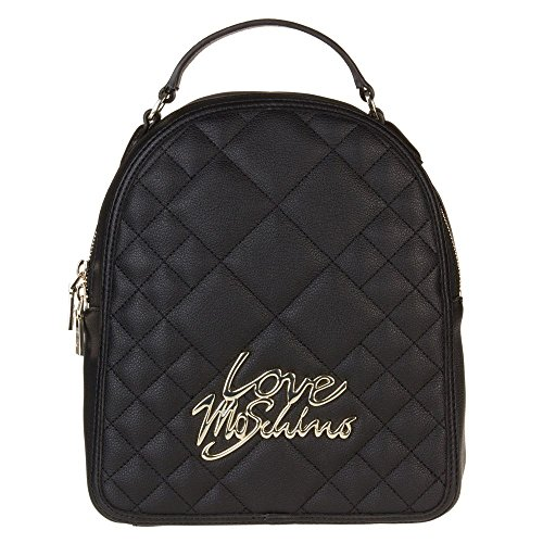 Love Moschino Quilted Logo Womens Handbag Black by Love Moschino