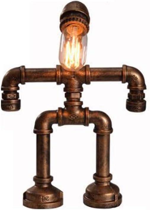 Jtivcs Vintage Robot Industrial Tubería de agua Luces de mesa ...