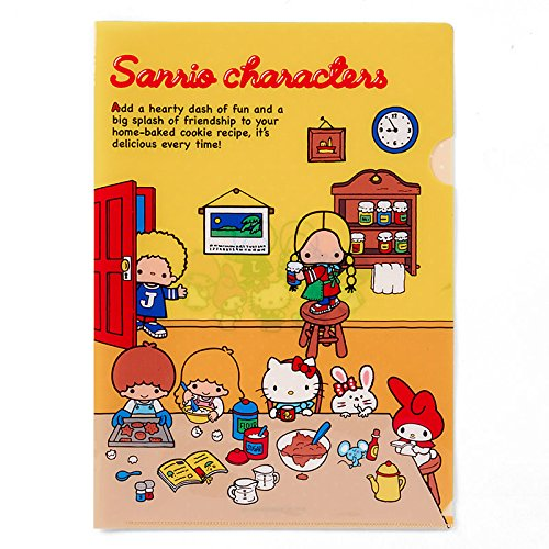 Sanrio Sanrio Characters A4 clear file '70s room From Japan New (70s Dress Up Ideas)