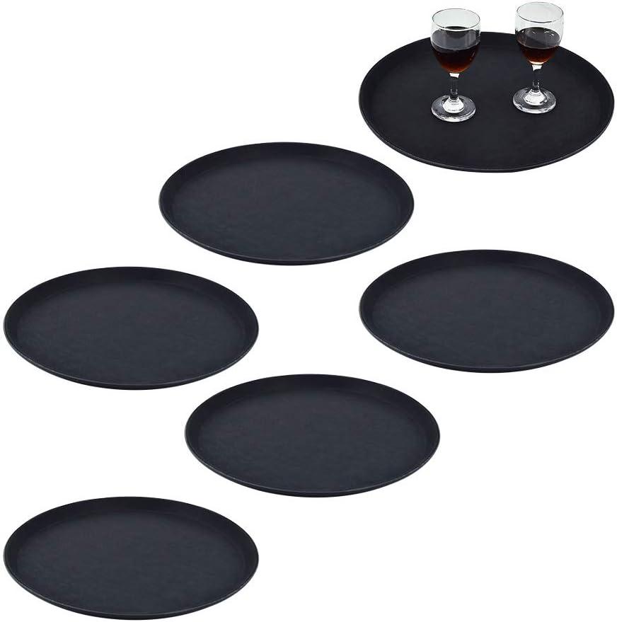 Non-Slip Tray,Cocktail Tray, Round, 14