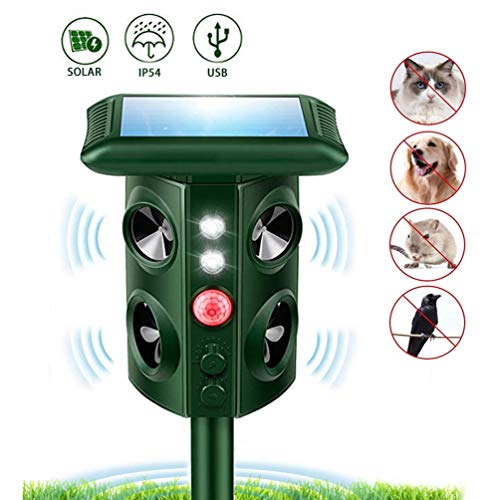 Firlar Solar Animal Outdoor Repellent Ultrasonic Garden Mole Repeller Ultrasonic Animal Repellent Vibrating Rodent Repellent Sonic Wave Pest Repeller Gopher Repeller Chaser Birds Cat