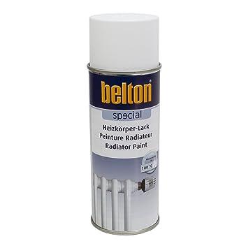 BLANC RADIATEUR Hte Température (BELTON) (Bombe Peinture 400 Ml)   Peinture  Auto
