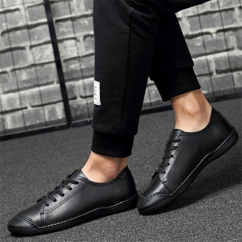 Chaussures en Automne Printemps Hommes de Trekking Baskets B Légère Plats pour Plein Course Mocassins en Cuir Chaussures air Lacets Confort athlétique dxqxw6rt