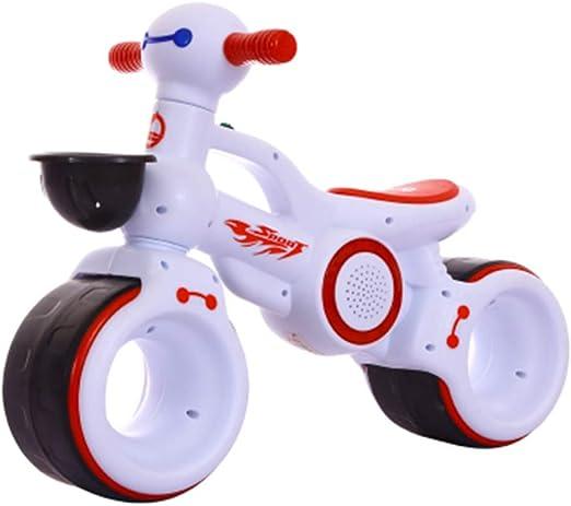 CHRISTMAD Equilibrio para Niños Andadores para Niños Andadores En Bicicleta Rueda De Silencio EVA Extra Ancha | Capacidad De 55 Libras | Edades 1 A 3 Años,White: Amazon.es: Hogar