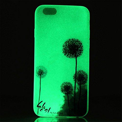 iPhone 5 / 5S Coque , Apple iPhone 5 / 5S Coque Lifetrut® [ pissenlit ] Colorful Silicone Cover Glow dans l'affaire de la peau foncé Noctilucent Ultra Slim douce et lumineuse TPU Coque Etui pour Apple