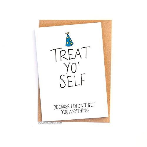 Treat yo self birthday greetings card amazon handmade treat yo self birthday greetings card m4hsunfo