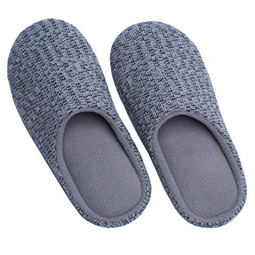 Ofoot - zapatillas de andar por casa adultos unisex gris claro