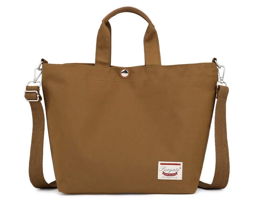 Baby Wickelrucksack Wickeltasche,Handtasche Wasserdichte Tasche mit Rei/ßverschluss f/ür die Arbeit Schule und Einkaufen Braun