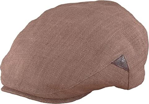 Henschel Ivy League - Handmade Linen with leather inserts (XL, Brown) - Henschel Handmade Hat