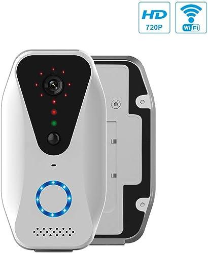 Dedeo Wireless WiFi Doorbell Smart Camera Door Bell with Battery, Door Ring 720P HD Video Phone IR Night Visual Record Security Battery Power